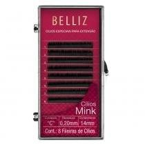 Cílios para Alongamento Belliz - Mink C 020 14mm -