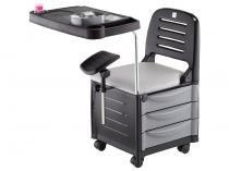 Cirandinha/Cadeira de Manicure 3 Gavetas - 2 Prateleiras Dompel Veneza