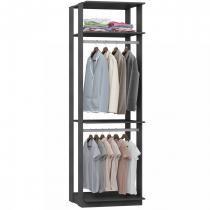 Closet 2 Prateleiras e 2 Cabideiros 1005 - Be Mobiliário - Be mobiliário inteligente