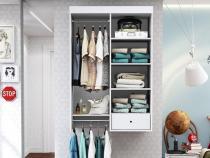 Closet Suspenso Euforia Branco Textura - Albatroz -