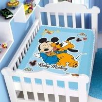 Cobertor Bebê Raschel Mickey Divertido - Jolitex -
