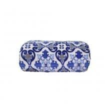 Cobertor Camesa Microfibra Remix 180g Solteiro 150x220 Azulejo - Camesa