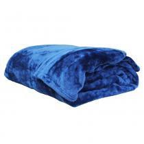 Cobertor Casal Azul 300gr Microfibra Sultan -