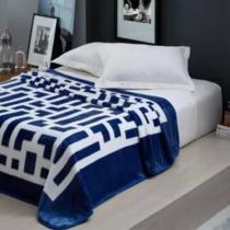 Cobertor Casal Home Design Davis Marinho 180x220cm - Corttex -