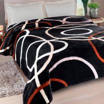 Cobertor Casal Jolitex Kyor Plus Avalon Preto -