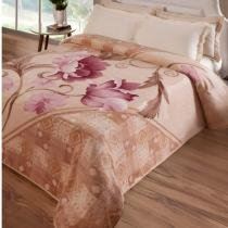 cfab1a6603 Cobertor Casal Kyor Plus Montecarlo 1 Peça Microfibra Jolitex Bege -