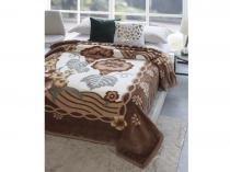 Cobertor Casal Microfibra Dyuri Rosas Urbanas - 1 Peça