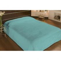 Cobertor casal microfibra liso 2,20x1,80m piscina - camesa -