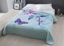 Cobertor Casal Raschel Aveludado 1,80x2,20m Wendy-Azul Corttex -