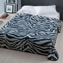 Cobertor Casal Raschel Home Design  Corttex - Pretoria - Preto - Corttex