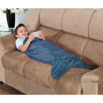 Cobertor Cauda de Tubarão Infantil Saco de Dormir 01 Peça (Toque Aveludado) - Azul - Priori enxovais