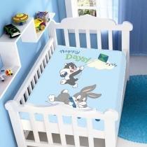 Cobertor de Bebê Looney Tunes Baby Happy Days - Jolitex - Azul - Jolitex