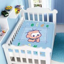 Cobertor de Bebê Turma da Mônica Baby ABC 123 - Jolitex - Azul - Jolitex