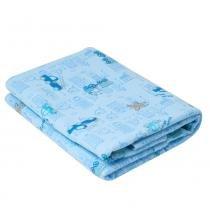 Cobertor de Enrolar Karinho Estampado Carros na Cidade Azul - Papi - Papi