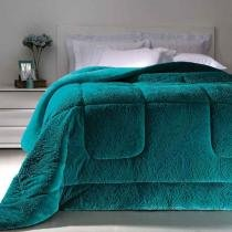 Cobertor Dupla Face Extramacio Casal Duo Blanket Verde Água - 100 Poliéster - Kacyumara - Verde Água -