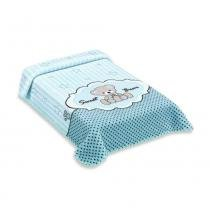 Cobertor Exclusive Colibri Estampado Sweet Azul -
