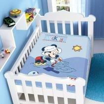 Cobertor Infantil Disney Mickey na Areia - Jolitex - Azul - Jolitex