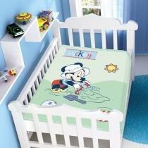 Cobertor Infantil Disney Mickey na Areia - Jolitex - Verde - Jolitex