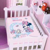 Cobertor Infantil Disney Minnie Patinhos - Jolitex - Rosa - Jolitex
