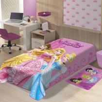 cobertor infantil menina jolitex Disney as princesas -