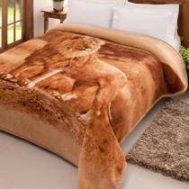Cobertor Jolitex Pelo Alto Casal 1,80 x 2,20m Leão -