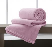 Cobertor Manta Microfibra King Size 220x240cm Home Design Rosa Antigo Corttex -