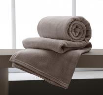 Cobertor Manta Microfibra King Size 220x240cm Home Design Taupe Corttex -