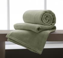 Cobertor Manta Microfibra King Size 220x240cm Home Design Verde Corttex -