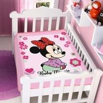 Cobertor menina Disney Minnie Florzinhas Jolitex -