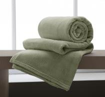Cobertor Microfibra King 220x240cm Verde Corttex -