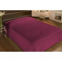 Cobertor microfibra queen 2,40m x 2,20m vinho  - camesa - Camesa