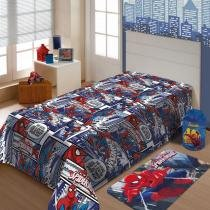 Cobertor Microfibra Solt Marvel Homem Aranha Jolitex Ternille -