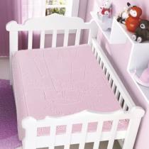 Cobertor Para Bebê Raschel com Relevo Balão Rosa - Jolitex - Rosa - Jolitex