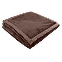 Cobertor Queen 220 x 240cm Toque de Luxo Marrom - Europa - Europa