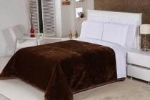 Cobertor Queen Nobre Liso - Castanho - Etruria