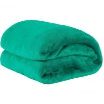 Cobertor Solteiro Manta de Microfilbra 01 Peça (Toque Aveludado) - Esmeralda - Guilherme enxovais