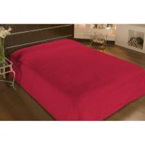 Cobertor solteiro microfibra liso 1,50x2,20m vermelho - camesa -