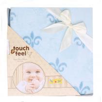 Cobertor Touch Feel Azul - ÚNICO - COLIBRI