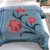 Cobertor tradicional casal pelo alto 1,80x2,20m tulipas - Jolitex