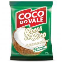 Coco em Flocos Desidratado Integral 100g - Coco Do Vale -
