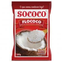 Coco em Flocos Integral Desidratado Flococo 100g - Sococo -
