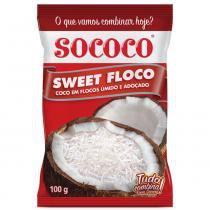 Coco em Flocos Úmido e Adoçado Sweet Floco 100g - Sococo -
