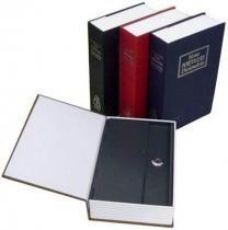 Cofre Camuflado Formato Livro Dicionário - Pequeno - Azul - importado