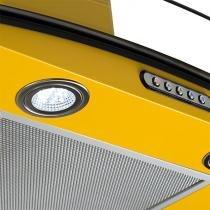 Coifa em Vidro Curvo Slim Amarelo de 60 cm - 220 Volts - Fogatti