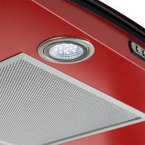 Coifa em vidro curvo slim vermelho de 75 cm - 220 volts - Vermelho - Fogatti