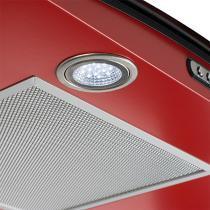 Coifa em vidro curvo slim vermelho de 90 cm - 220 volts - Vermelho - Fogatti