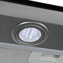 Coifa em Vidro Reto Inox Duto Slim de 60 cm - 220 Volts - Fogatti