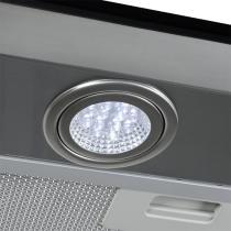 Coifa em vidro reto inox duto slim de 60 cm - 220 volts - Prata - Fogatti