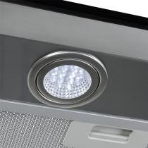 Coifa em Vidro Reto Inox Duto Slim de 75 cm - 127 Volts - Fogatti
