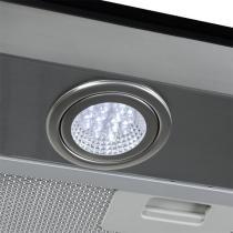 Coifa em Vidro Reto Inox Duto Slim de 75 cm - 220 Volts - Fogatti